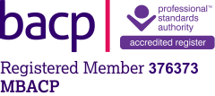 The BACP Registered Member Logo and my membership number